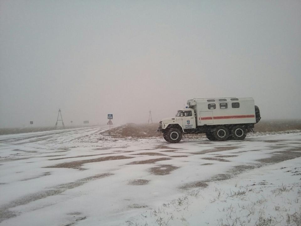 Напроблемные участки трасс Волгоградской области выдвинулись мобильные пункты обогрева