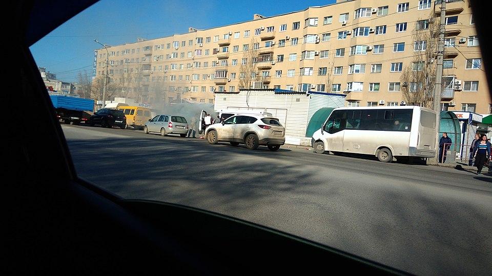 ВСоветском районе наостановке СХИ сгорела маршрутка
