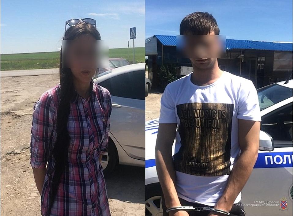 Под Волгоградом полицейские отыскали вмашине 12 свертков снаркотиками