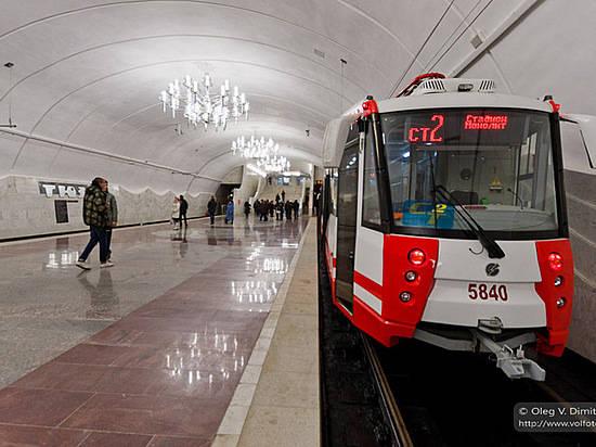 Станцию волгоградского высокоскоростного трамвая закрыли из-за забытого пакета