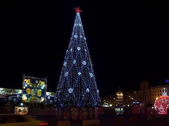 ВВолгограде зажгли главную новогоднюю елку