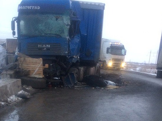 Натрассе Москва-Волгоград столкнулись два грузового автомобиля