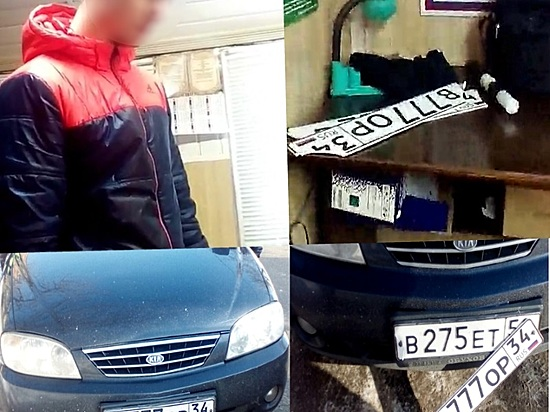 Москвича задержали вВолгограде заезду наавтомобиле споддельными номерами