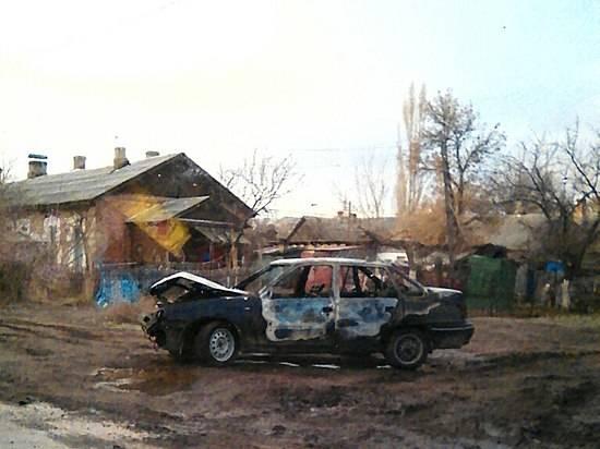 Наюге Волгограда сгорела очередная иностранная машина