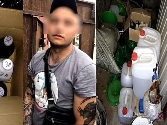 ВВолжском 25-летний безработный организовал вгараже нарколабораторию