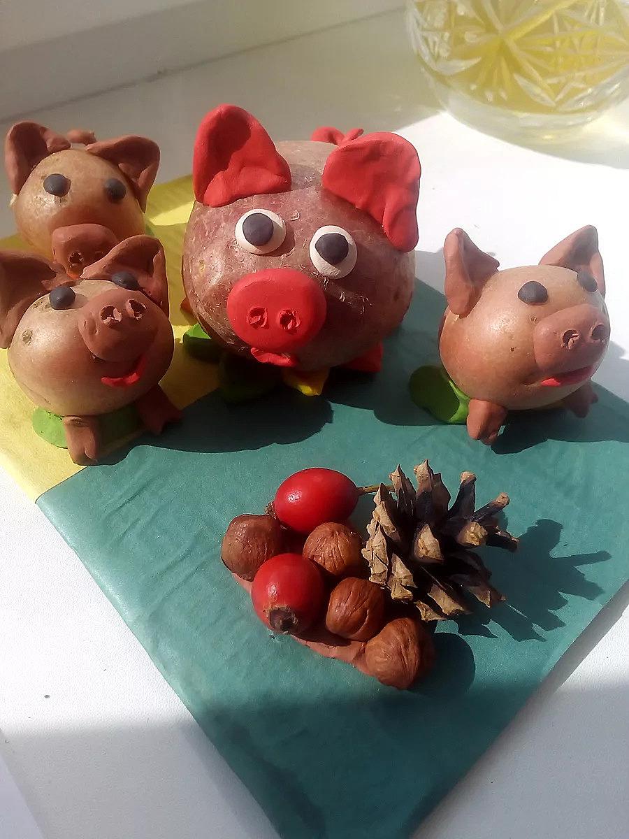 Поделки из картошки для детского сада на тему осень фото